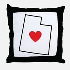 I Love Utah Throw Pillow