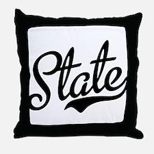 State Script Black Throw Pillow