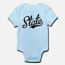 State Script Black Infant Bodysuit