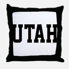Utah Jersey Black Throw Pillow
