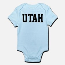 Utah Jersey Black Infant Bodysuit
