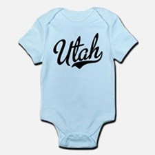 Utah Script Black Infant Bodysuit