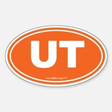 Utah UT Euro Oval ORANGE Decal