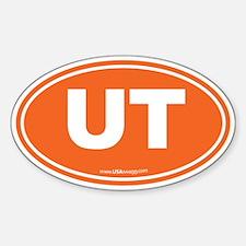 Utah UT Euro Oval ORANGE Sticker (Oval)
