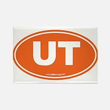 Utah UT Euro Oval ORANG Rectangle Magnet (10 pack)