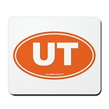 Utah UT Euro Oval ORANGE Mousepad
