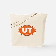 Utah UT Euro Oval ORANGE Tote Bag