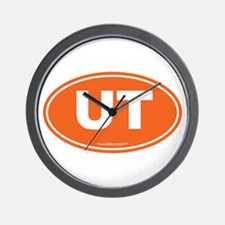Utah UT Euro Oval ORANGE Wall Clock
