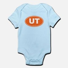 Utah UT Euro Oval ORANGE Infant Bodysuit