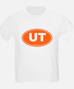 Utah UT Euro Oval ORANGE T-Shirt