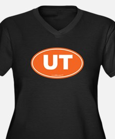 Utah UT Euro Women's Plus Size V-Neck Dark T-Shirt