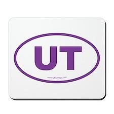 Utah UT Euro Oval PURPLE Mousepad