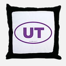 Utah UT Euro Oval PURPLE Throw Pillow