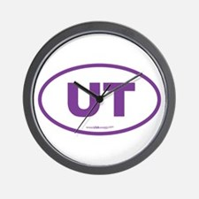 Utah UT Euro Oval PURPLE Wall Clock