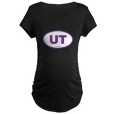 Utah UT Euro Oval PURPLE T-Shirt