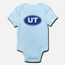 Utah UT Euro Oval BLUE Infant Bodysuit
