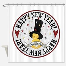 New Year Baby Shower Curtain