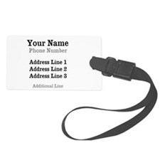 New Year Baby Luggage Tag