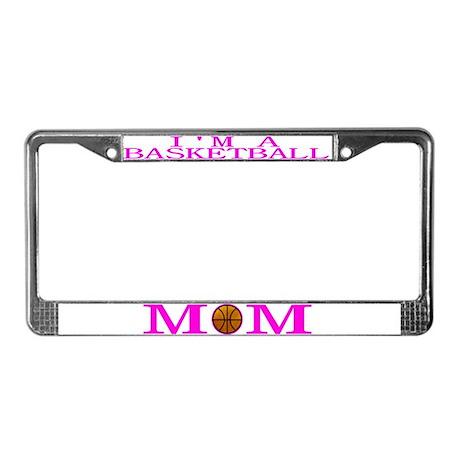 Basketball Mom - Pink - License Plate Frame