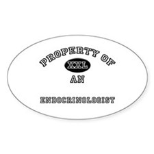 Property of an Endocrinologist Oval Decal