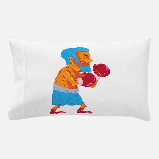 Bearded Boxer Boxing Cartoon WPA Pillow Case
