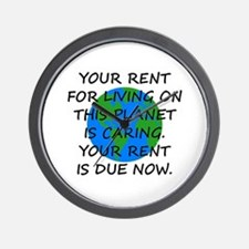 Your rent is caring. Wall Clock