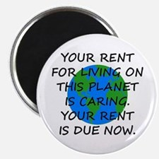 Your rent is caring. Magnet