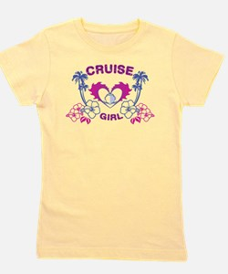 Cute Tropical flowers Girl's Tee