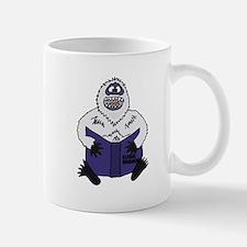 Abominable Snowman Reading Global Warming Mugs