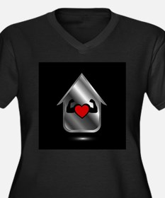House with a healthy heart Plus Size T-Shirt