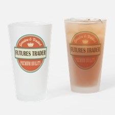 futures trader vintage logo Drinking Glass