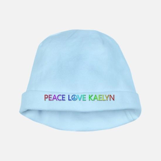 Peace Love Kaelyn baby hat