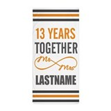 13th wedding anniversary Beach Towels