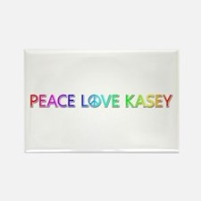 Peace Love Kasey Rectangle Magnet