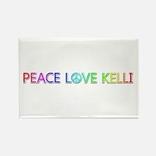 Peace Love Kelli Rectangle Magnet