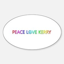 Peace Love Kerry Oval Decal