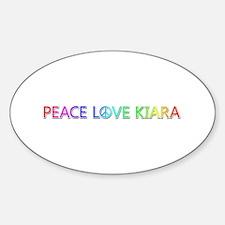 Peace Love Kiara Oval Decal