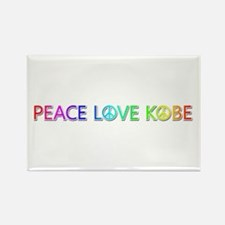 Peace Love Kobe Rectangle Magnet