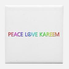 Peace Love Kareem Tile Coaster