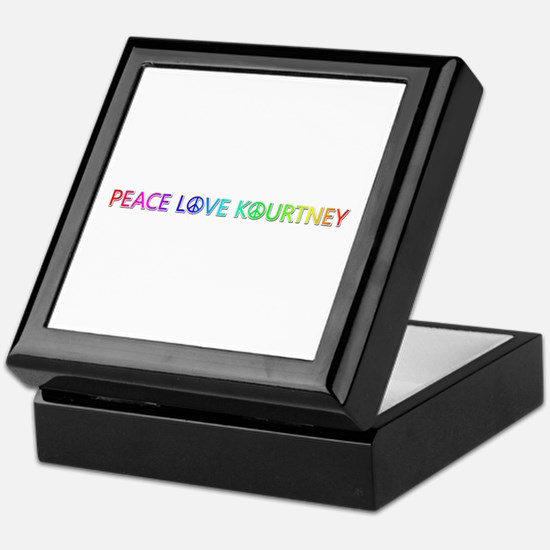 Peace Love Kourtney Keepsake Box