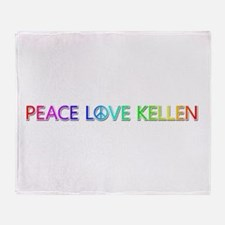 Peace Love Kellen Throw Blanket
