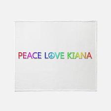 Peace Love Kiana Throw Blanket