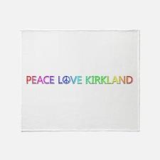 Peace Love Kirkland Throw Blanket