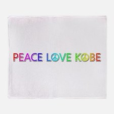 Peace Love Kobe Throw Blanket