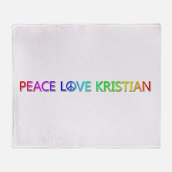 Peace Love Kristian Throw Blanket
