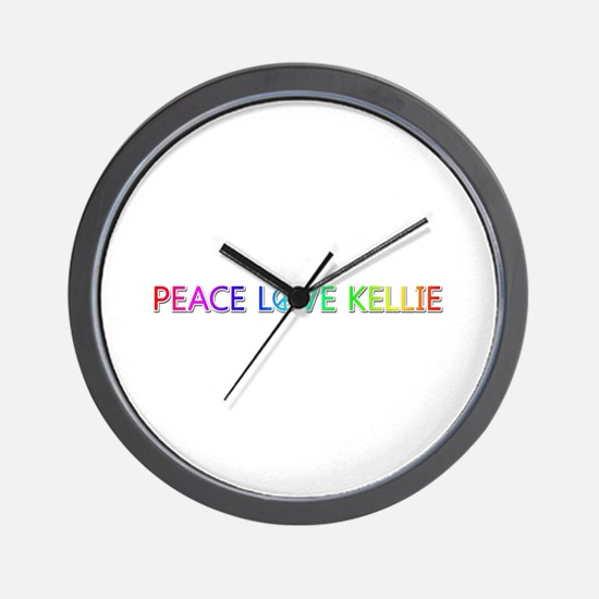 Peace Love Kellie Wall Clock