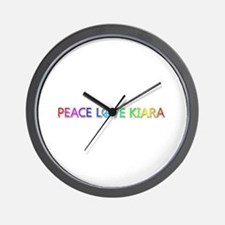 Peace Love Kiara Wall Clock