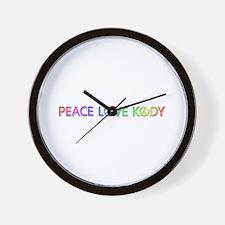 Peace Love Kody Wall Clock