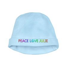 Peace Love Julie baby hat