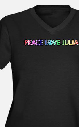 Peace Love Julia Plus Size T-Shirt